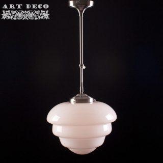 Art Deco hanglamp 'Oxford' pendel kort glas 30cm