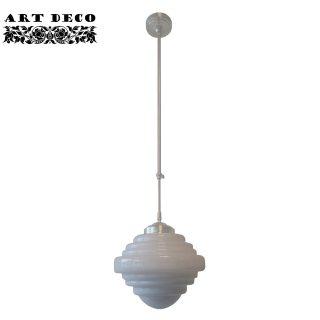 Art Deco hanglamp 'York' pendel lang glas 25cm