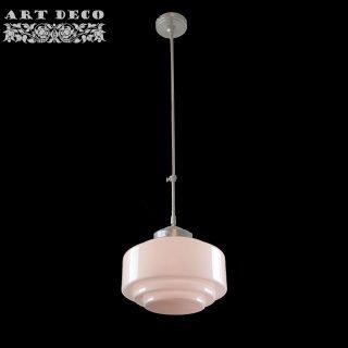 Art Deco hanglamp 'Cambridge' staal pendel lang glas ⌀ 30cm