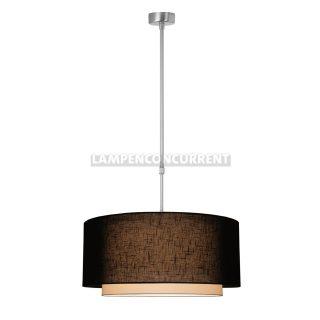 Hanglamp 'Verona' 1 lichts pendel zwarte kap 47cm