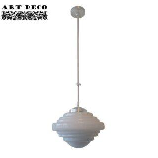 Art Deco hanglamp 'York' pendel lang glas 30cm