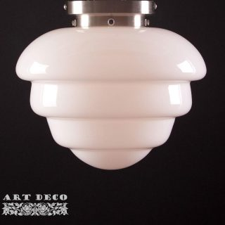 Art Deco plafondlamp 'Oxford' staal 30cm