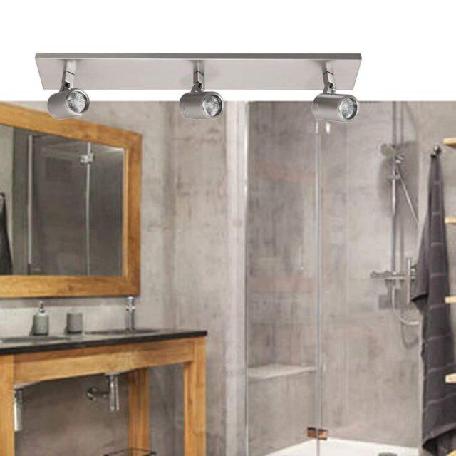 Badkamerlamp 3 lichts spot rain nikkel