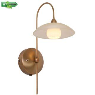Bronzen 1 lichts wandlamp Monarch