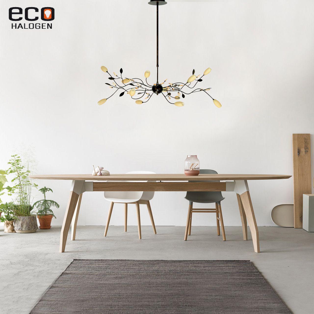 Super Bruine romantische eettafel hanglamp grosseto roest NK-91