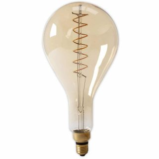 Calex LED volglas Flex Filament Splash 240V 4W E27 PS160, Gold 2100K Dimbaar