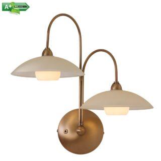 Design wandlamp 2 lichts brons