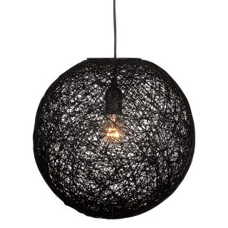 Hanglamp 'Abaca' 35 cm zwart