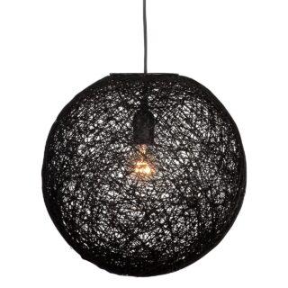 Hanglamp 'Abaca' 45 cm zwart