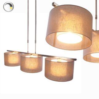 Hanglamp 'Camelot' 3 lichts + kap in kap taupe