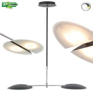 Hanglamp led design dimbaar Sapporo zwart gecoat - 5615