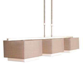 Hanglamp met vierkante kappen taupe