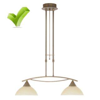 Hanglamp 'Palermo' 2 lichts brons