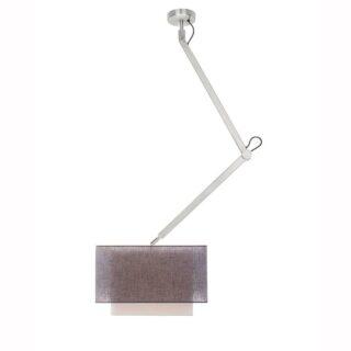 Hanglamp 'Square' robuust 1 lichts zwenk kort met kap antraciet