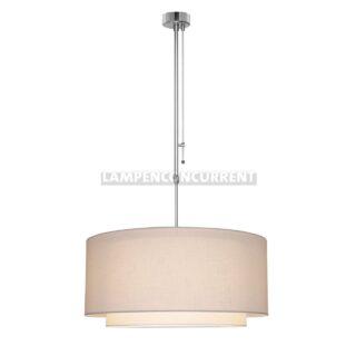 Hanglamp 'Verona' 1 lichts pendel met dimmer witte kap 47cm