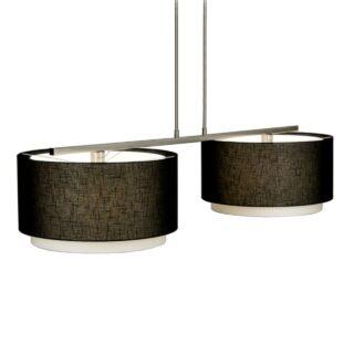 Hanglamp 'Verona' 2 lichts met zwarte kappen