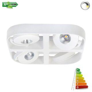 industriële ledspot wit 4 lichts verstelbaar