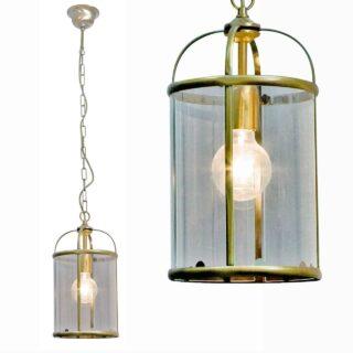 Klassieke hanglamp lantaarn Pimpernel brons ⌀ 20cm