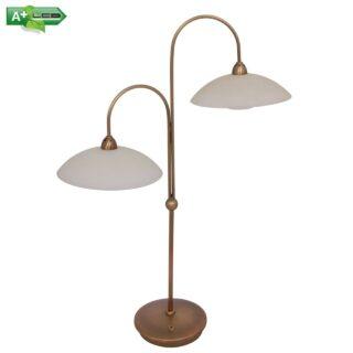 Klassieke tafellamp met vanille glas