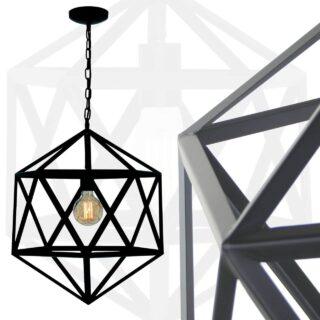 Moderne Cubo draadlamp zwart XXL ⌀ 55 cm - 5672Z