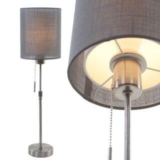 Moderne tafellamp met dubbele cilinder kap ⌀ 18 cm linnen antraciet