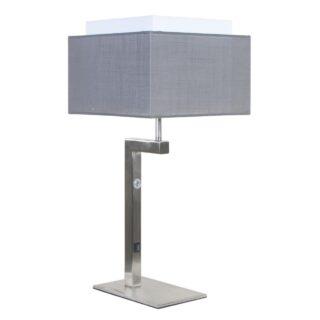 Moderne tafellamp met vierkante kap antraciet