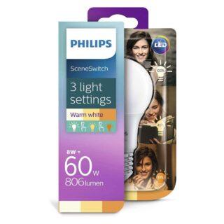 Philips 3 standen lamp - 8,5 watt - 2700 naar 2200 kelvin