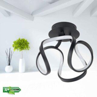 Plafondlamp led design Kyra zwart