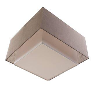 Plafondlamp 'Square' 40x40cm taupe