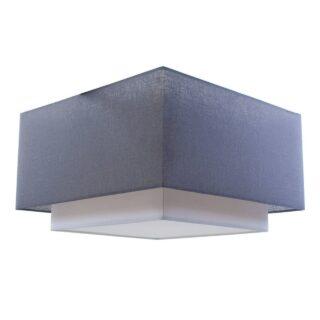 Plafondlamp 'Square' 55x55cm antraciet