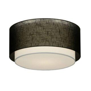 Plafondlamp 'Verona' 47 cm zwart