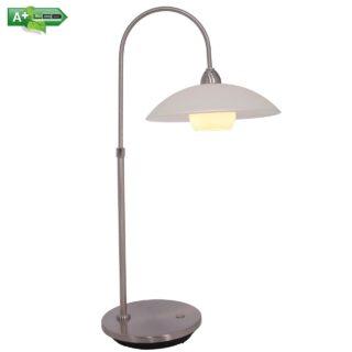 Tafellamp design 1 lichts staal