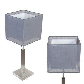 Tafellamp Mini Cuba met dubbele vierkante kap antraciet