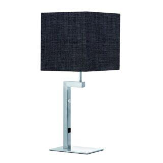 Tafellamp 'Square led' + kap antraciet
