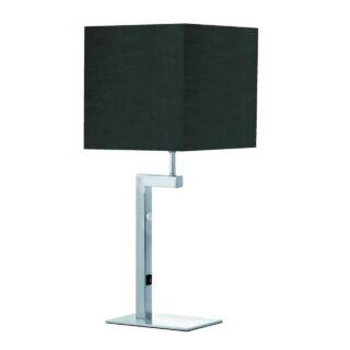 Tafellamp 'Square led' + kap zwart