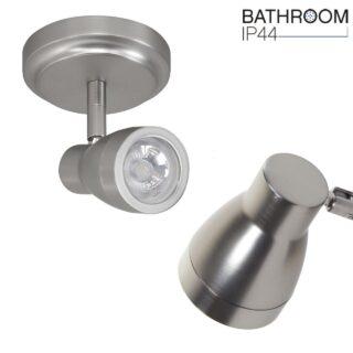 Verstelbare badkamerverlichting 1 lichts mat staal