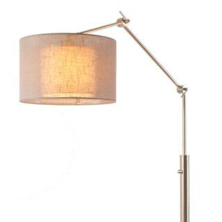 Vloer - leeslamp 'Camelot' + kap in kap taupe