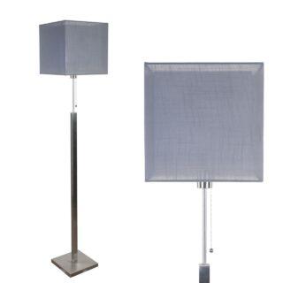 Vloerlamp Mini Cuba met dubbele vierkante kap antraciet