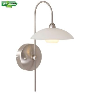 Wandlamp design 1 lichts staal