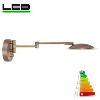 Wandlamp 'Jupiter' LED 1 lichts brons lang