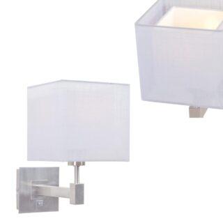 Wandlamp Mini Cuba met dubbele vierkante kap licht grijs