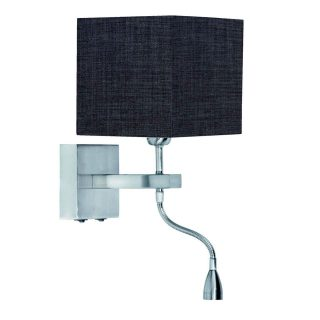 Wandlamp 'Square led' + kap antraciet