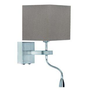 Wandlamp 'Square led' + kap grijs