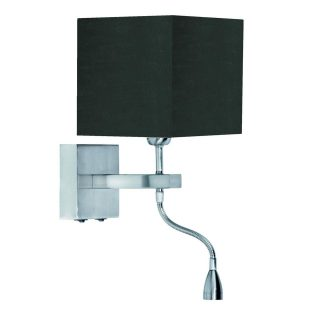 Wandlamp 'Square led' + kap zwart