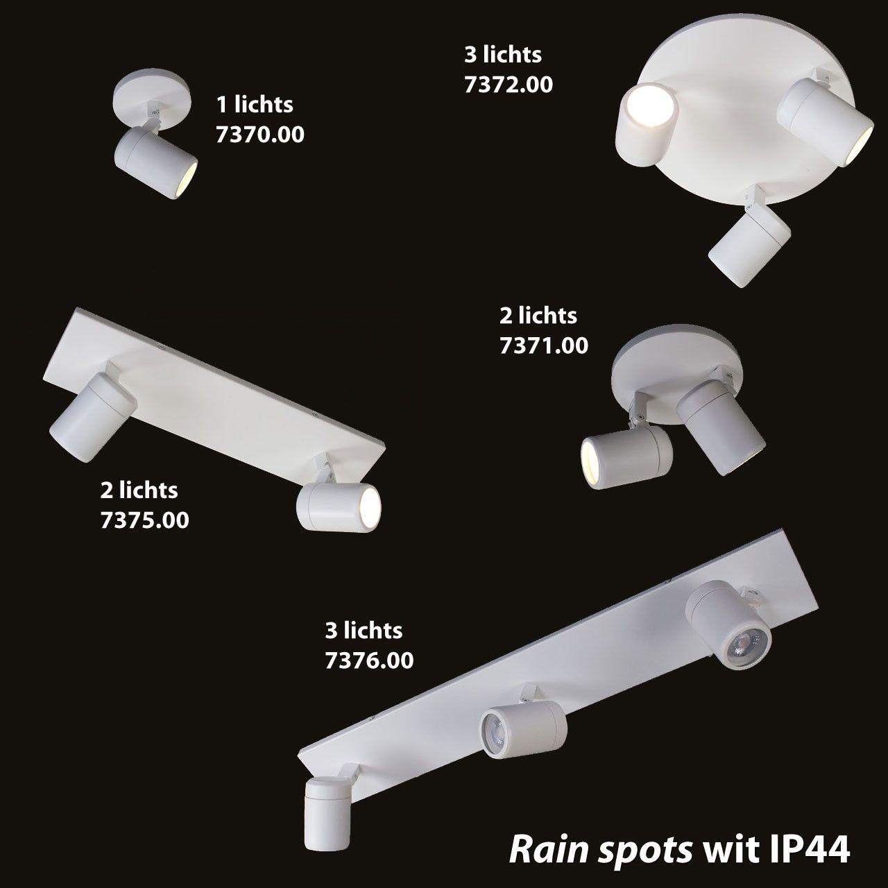Zwarte badkamerlamp rain 2 lichts IP44 LampenConcurrent.nl