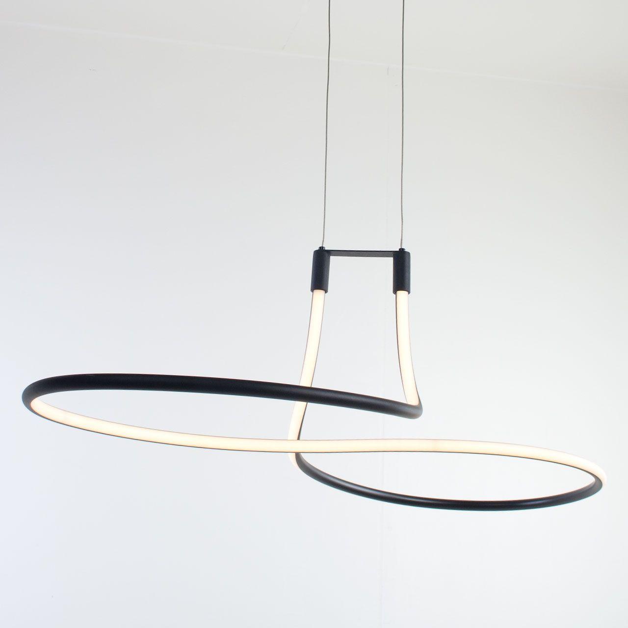 Nieuw Zwarte eettafellamp led Basel - LampenConcurrent.nl XC-77