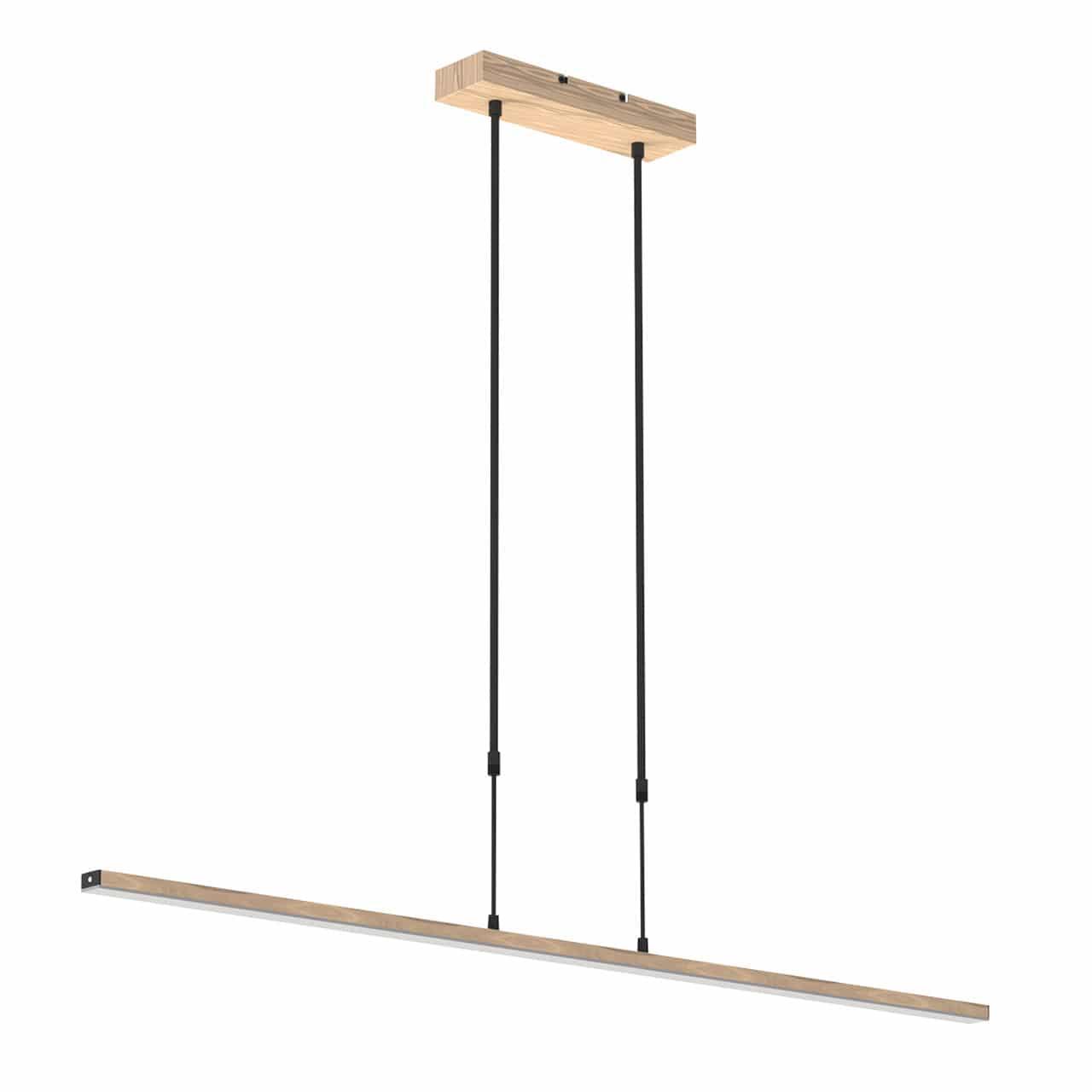 Hedendaags Moderne eettafellamp Zelena led design houtkleur - LampenConcurrent.nl HZ-19